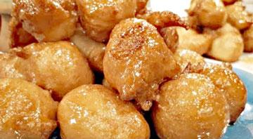 buñuelos con miel ecuatorianos