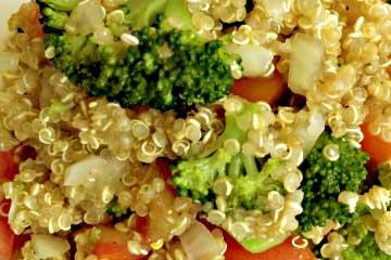 quinoa con verduras al vapor