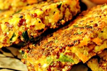 croquetas de quinoa con queso