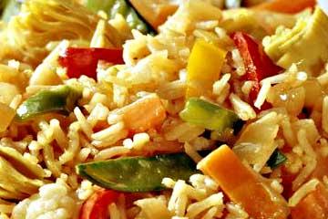 arroz español con verduras