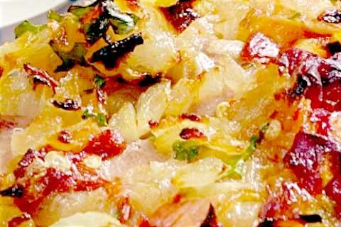 besugo en salsa con pimientos secos